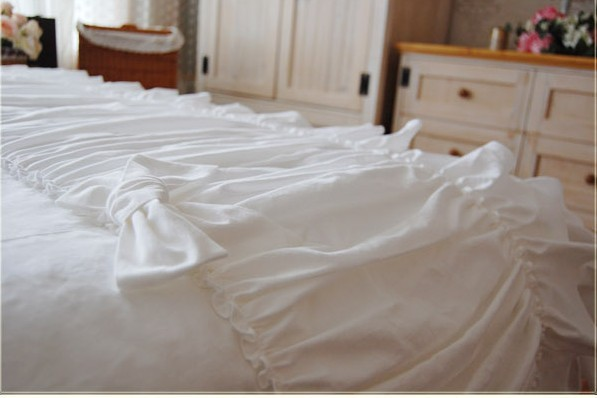 ̿̿̿(•̪ )Hermosa boda capas de pastel conjunto de cama doble reina ...