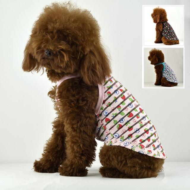 2013 Dog clothes summer Transparent stripe pattern Dog