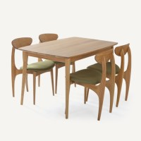 Dodge Scandinavian modern style furniture, oak wood dining ...