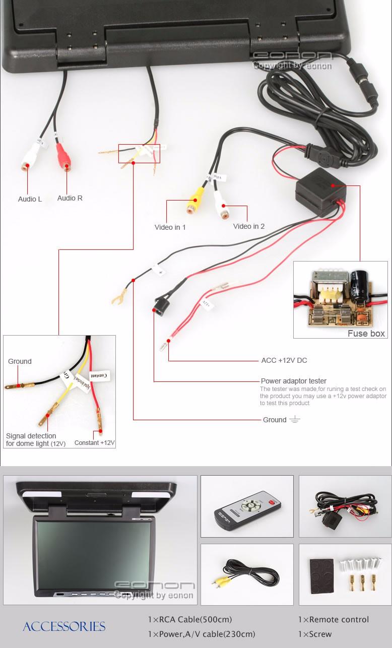 √Eonon 15.4 Toit de la voiture Monté Affichage Flip Down Moniteur on everfocus wiring diagram, benq wiring diagram, fusion wiring diagram, apple wiring diagram, toshiba wiring diagram, planet audio wiring diagram, rca wiring diagram, focal wiring diagram, advent wiring diagram, koolertron wiring diagram, samsung wiring diagram, asus wiring diagram, muse wiring diagram, lanzar wiring diagram, jvc wiring diagram, panasonic wiring diagram, scosche wiring diagram, legacy wiring diagram, honeywell wiring diagram, toyota wiring diagram,