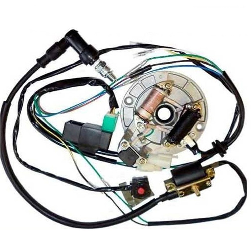 hight resolution of all electrics 50 70 110 125cc 140 wire harness cdi coil dirt bike stator