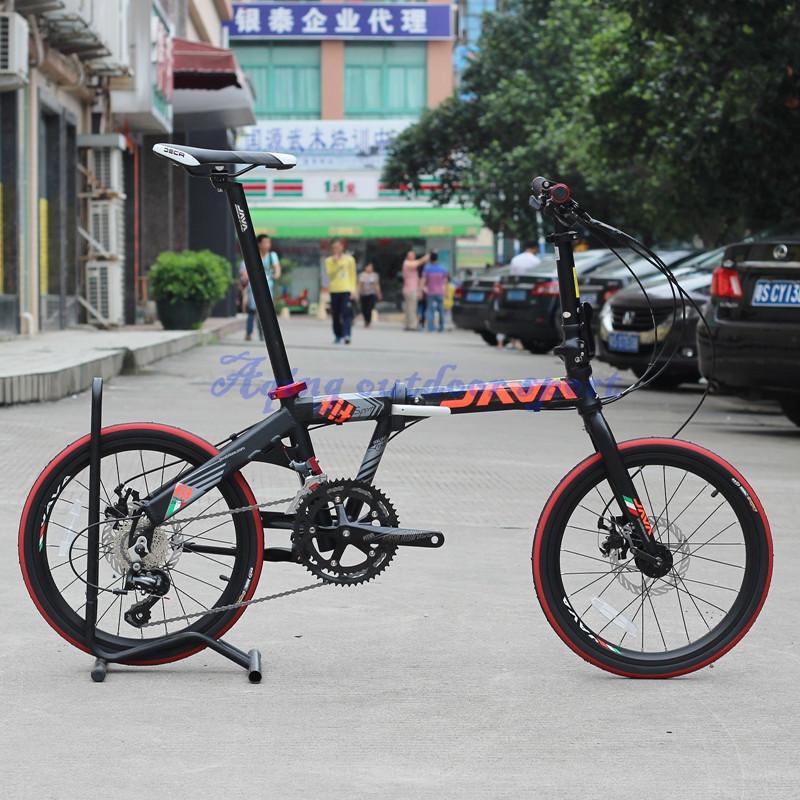 JAVA Marco y Tenedor De AJUSTE de La Bicicleta Plegable De Aluminio ...