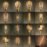 Vintage Edison Bulb Light Lamp AC 110V/220V E27 Vintage ...