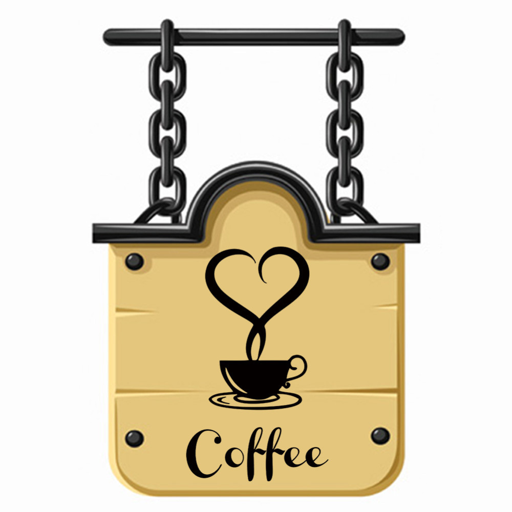 √Coffee shop Restaurant wall decor decals home decorations 361 ...