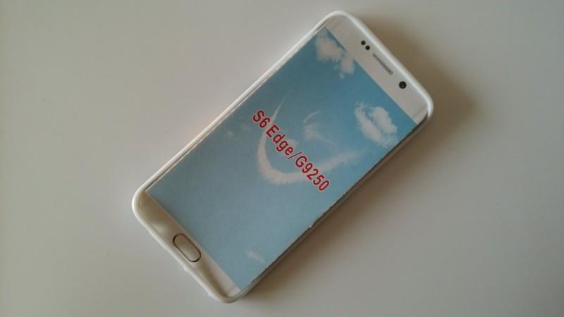 a6632ed3c ≧1 unidades flor púrpura caso colorido para Samsung Galaxy S6 borde ...