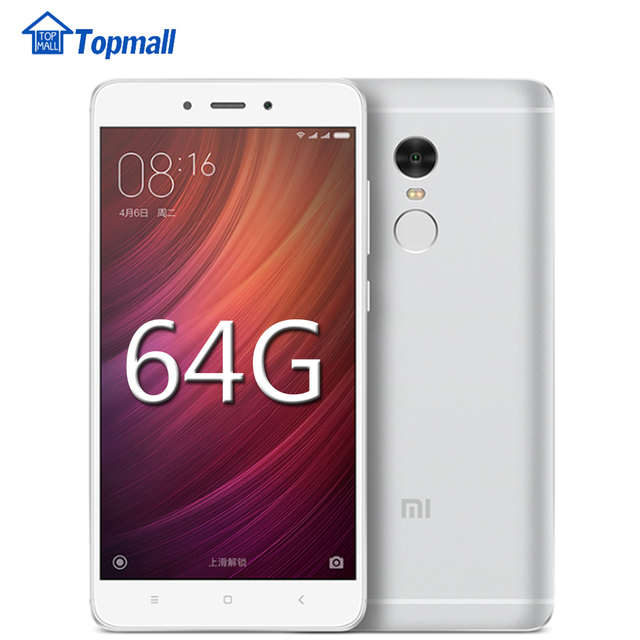 "In stock Original Xiaomi phone Redmi note 4 Prime MTK Helio X20 Deca Core 3GB RAM 64GB ROM 5.5 ""1080P MIUI 8 Fingerprint ID"