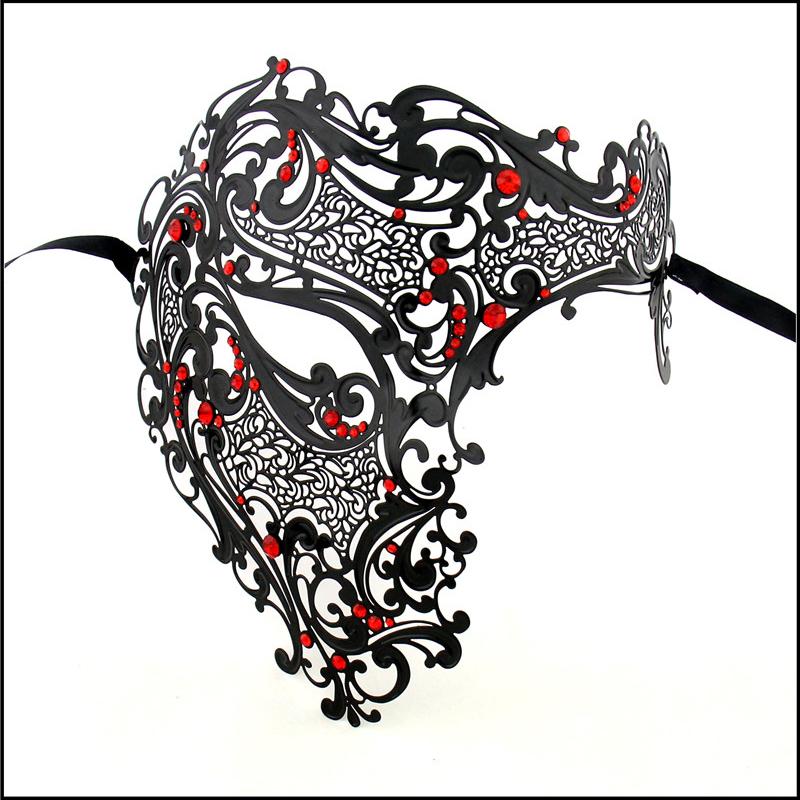 Compra máscara veneciana de metal online al por mayor de