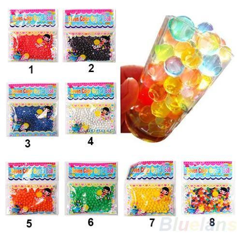 2 borse perla terra perline di cristallo sfera magica di crescita della  gelatina adesivi decorativi 52ba4bfd39c