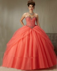Popular Coral Quinceanera Dresses-Buy Cheap Coral ...