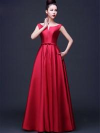 Buy Arrival Elegant Red Evening Dresses 2016 line Simple