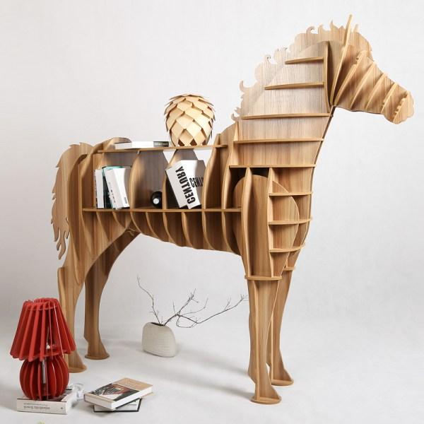 1 Set 62 69 Home Decor Wooden Horse Art Desk Creative