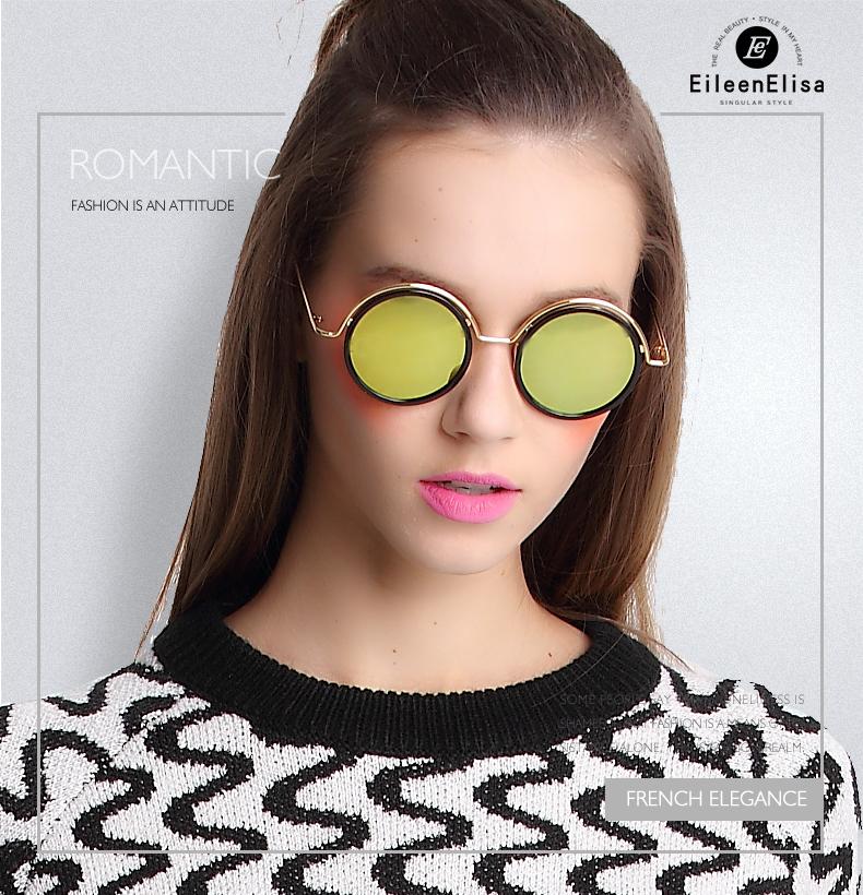Ee new mulheres retro rodada óculos de sol de marca mulheres do desenhador  óculos de sol da moda óculos polarizados oculos de sol f38db99e7e
