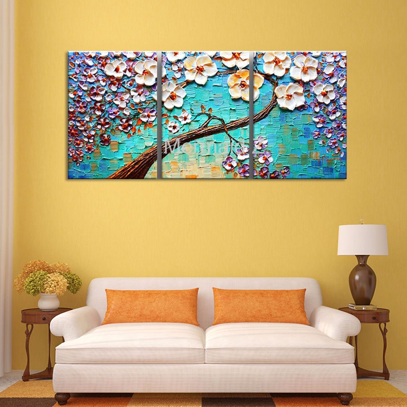 Hand-painted modern home oil painting decor wall art picture brown ...