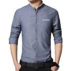 Men's Collarless Dress Shirts