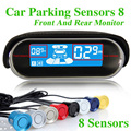 Car Parking Sensor 8 Sensors Reverse Backup Radar Electromagnetic Parking Assist System For Front Rear LED