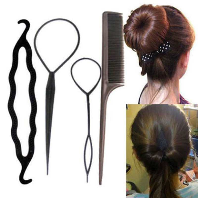 Hair Care & Styling Beauty & Health Strict Hair Braiding 2ps Black Braider French Style Fish Bond Waves Roller With Hair Twist Styling Bun Maker Tress Barrette Magic Tool