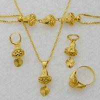 Heart jewelry set necklace & pendant bracelet earrings ...