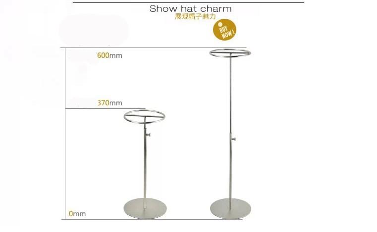 ᓂAcero inoxidable Pantalla de sombrero mate metal sombrero soporte ...