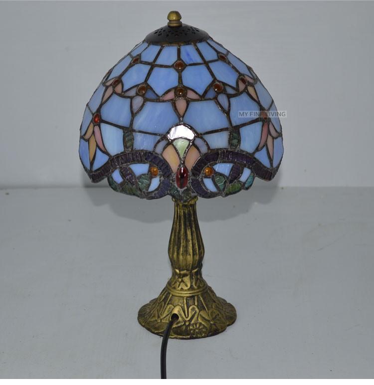 ᗔTiffany Lampe de Table 8 Pouce Classique Européenne Baroque