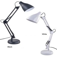 Swing Arm Desk Lamp with Metal Clamp Led Table Lamp ...