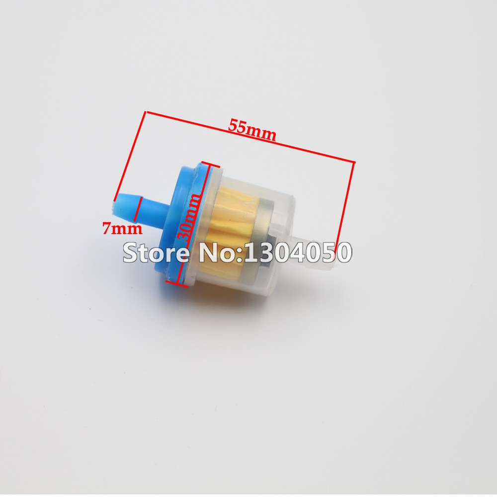 New 100pcs Atv Quad Petrol Gasline Fuel Filter Clear Inline Gas Sunl Dirt Pit Minimoto Motorcycle Scooter