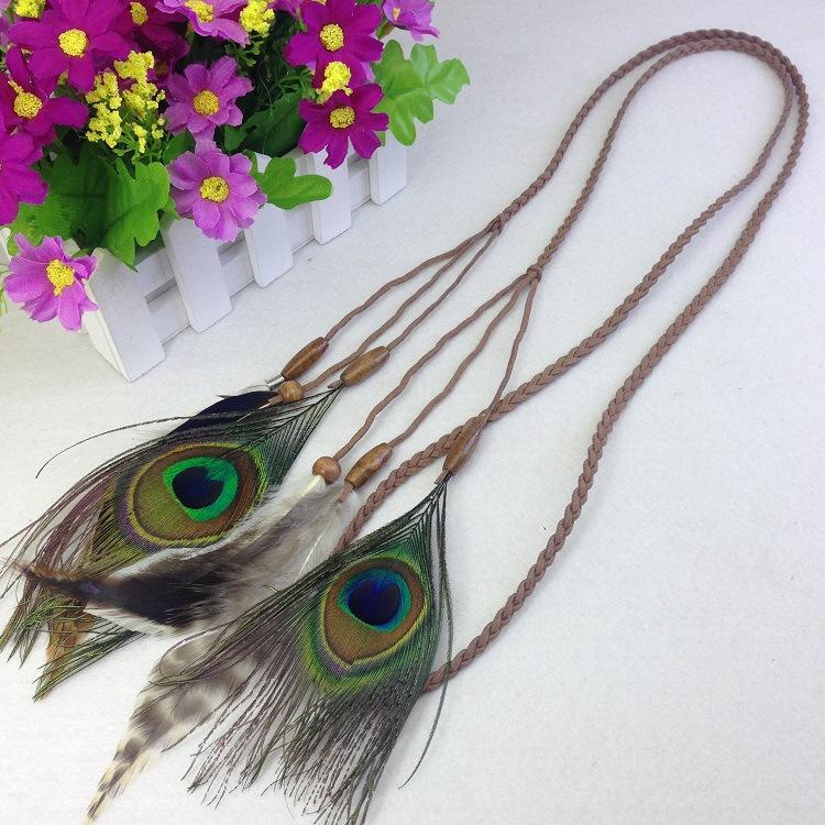 Mujeres Plumas Accesorios de pelo 2017 moda Peacock Plumas cabeza ...