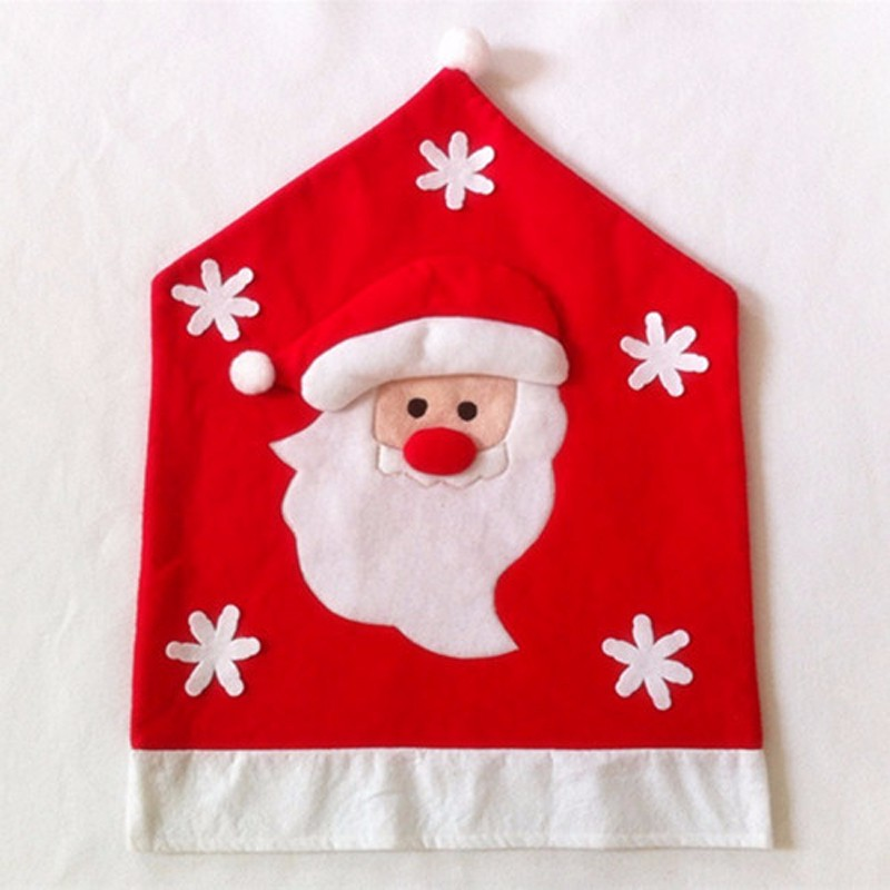 christmas elf chair covers leather side 3 pieces lot cute cover no woven santa claus 9