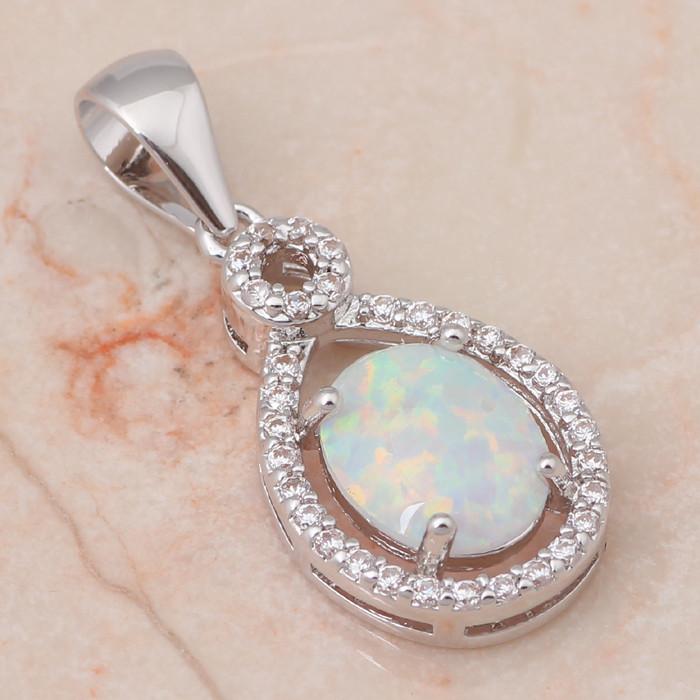 """Fashion 925 Sterling Argent Massif Collier Opale Mignon Croix Pendentifs Chaîne 18/"""""""