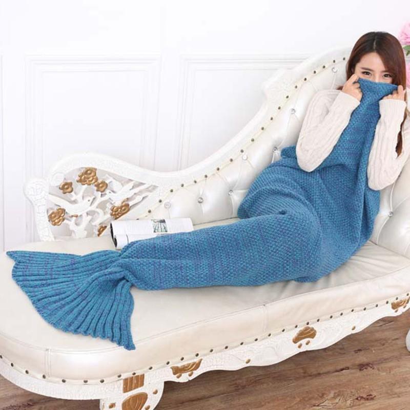 ᐊ10 unids/lote Mermaid manta hecho a mano crochet Mermaid manta ...
