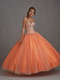2015 New Sweet heart Ball Gown Beaded Quinceanera Dresses ...