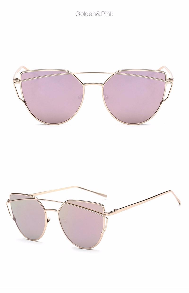 ᐂGato olho Mulheres Óculos De Sol 2016 Novo Design Da Marca Espelho ... 017b20955a