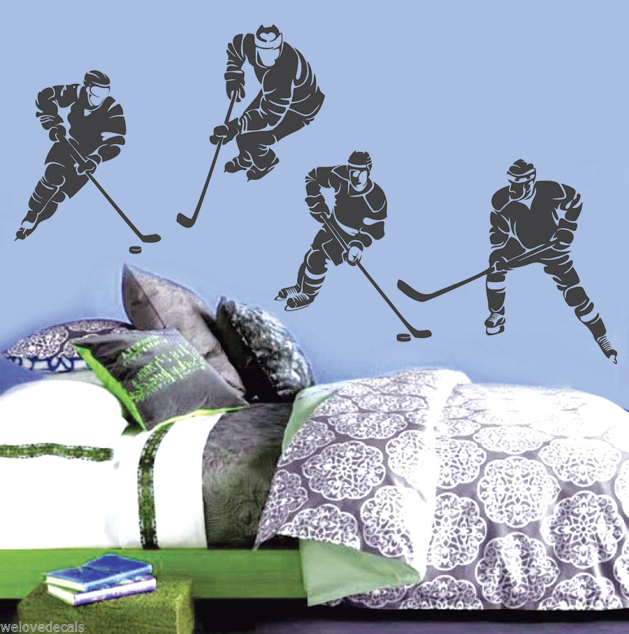 stickers muraux 3d Hockey sur glace Match Skates Hockey Stade Gym Sport Decals
