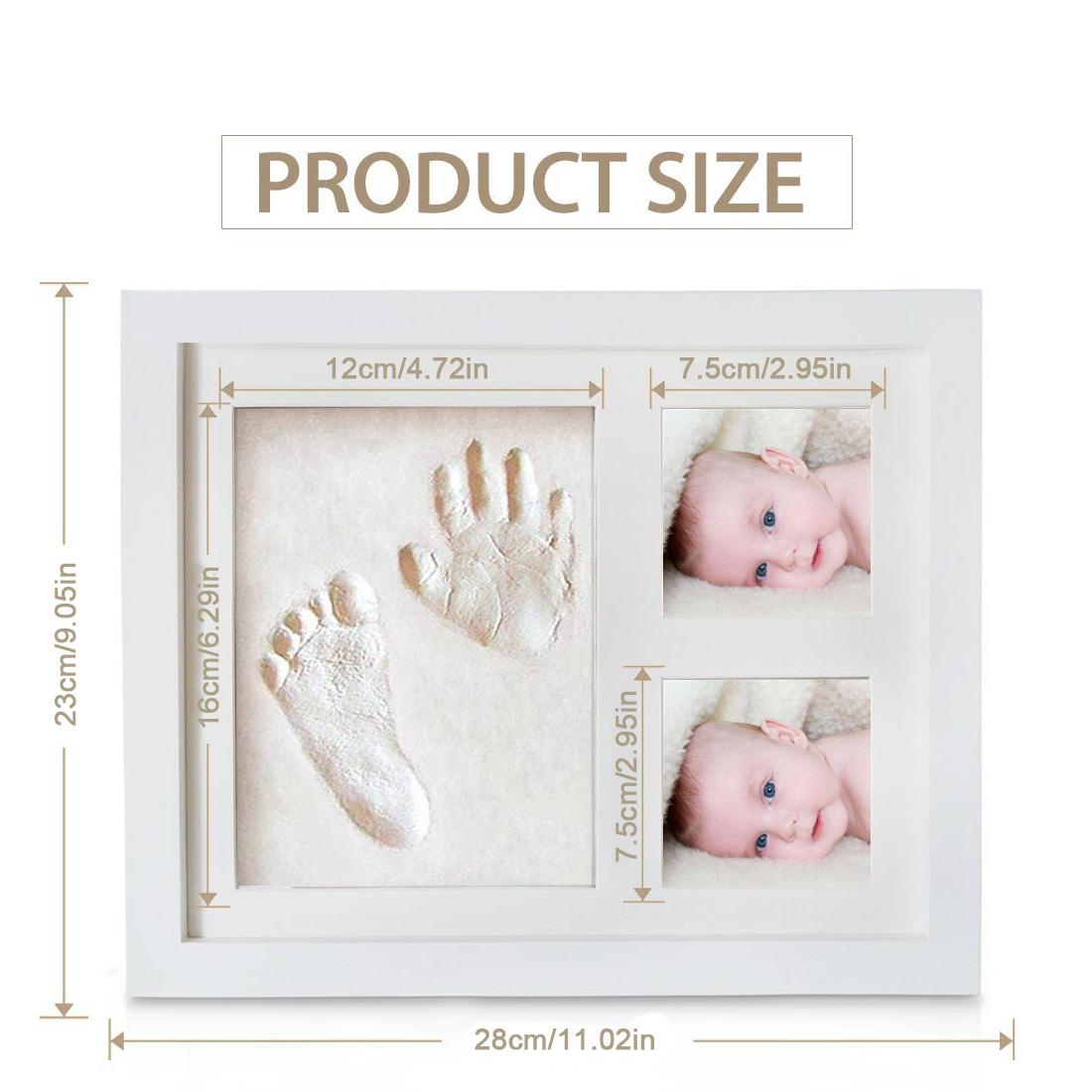 Marco lindo de la foto del bebé DIY 3D mano o la huella recuerdo ...
