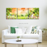 Forest Harp Fairy Multi Panel Paintings Wall Art Canvas ...