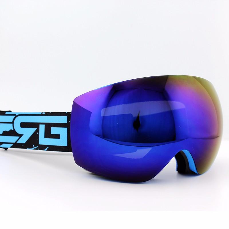 ⊱Lente púrpura azul Marcos marca gafas de esquí doble UV400 anti ...
