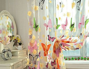 Sheer Butterfly Curtains