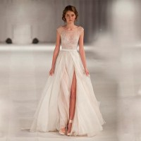 High End Can Be Tailored A Line Wedding Dresses Sheer Neck ...