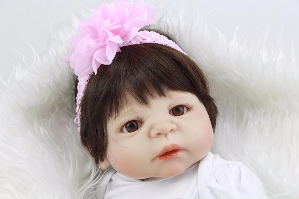 Bébé fille Reborn Noir et rouge sequins crâne EMO BANDEAU