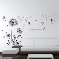 Dandelion wall art flower black color plant swing ...