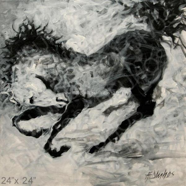 Black and White Modern Art Paintings