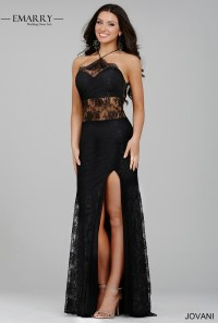 XXY191 Sexy Black Lace Prom Dresses 2016 Halter Appliques ...