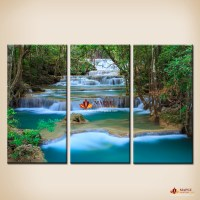 3 Pcs Canvas Wall Art Waterfall Painting Wall Picture For ...