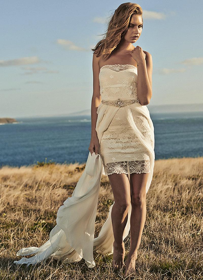 Short Bohemian Wedding Dresses With Skirt Wedding Dresses