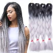 5pcs ombre kanekalon braiding hair
