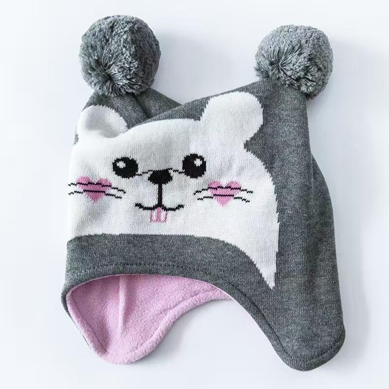 ᗛCeniza hámster bebé algodón sombrero Bordado crochet Baby beanies ...
