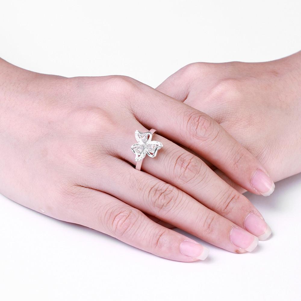 ΞShining White Waterdrop Cubic Zirconia Rings for Women Jewelry ...