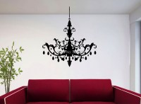 Aliexpress.com : Buy Hot CHANDELIER Silhouette Wall Art ...