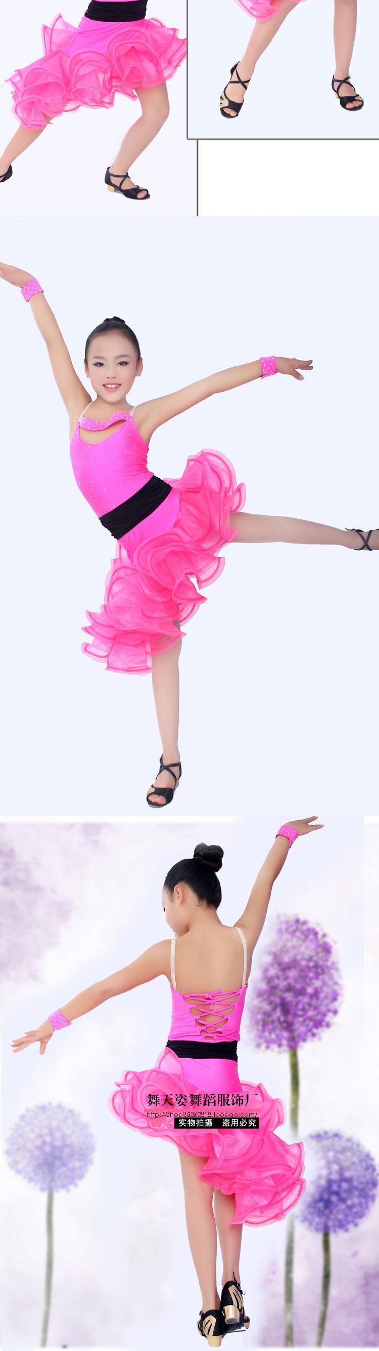 ▻Nuevo estilo trajes de Danza Latina spandex sin mangas niñas ...