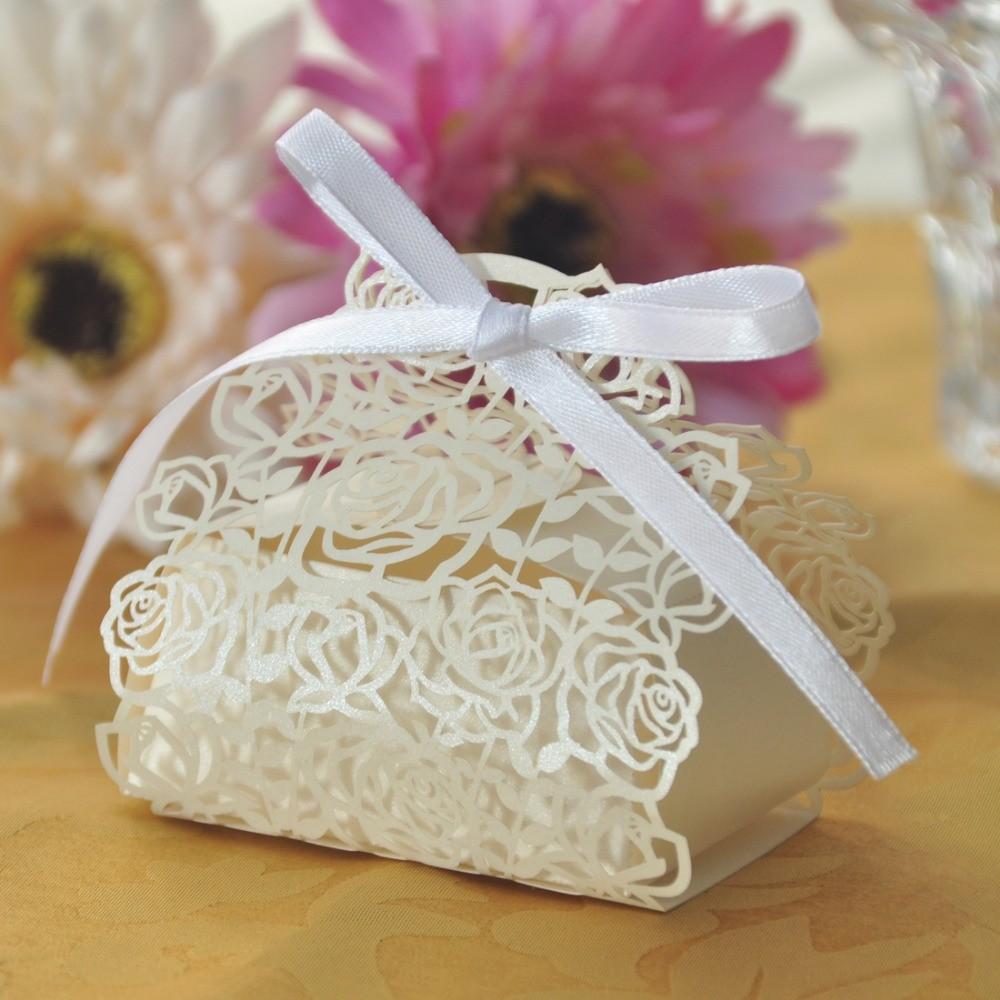٩(^‿^)۶20pcs/lot Wedding Souvenirs China Laser Cut Rose Flowers ...