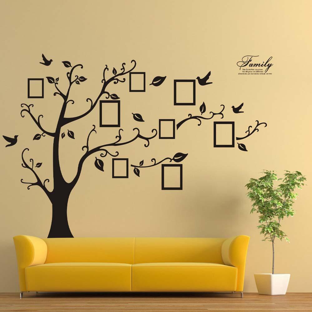 180*250cm 3D DIY Photo Tree Vinyl Wall Art Decorative Stickers Glass ...
